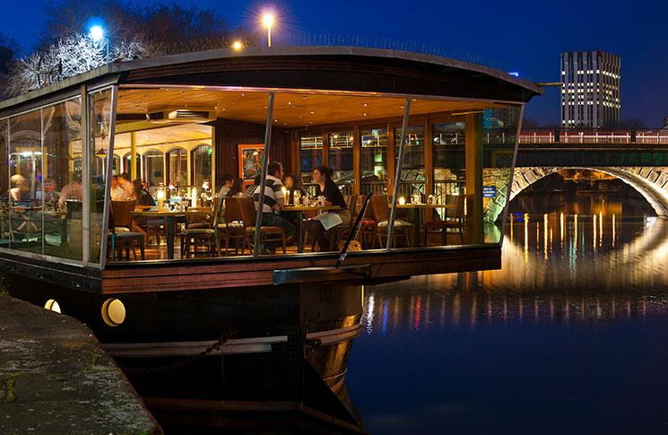 Glassboat on the river