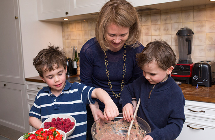 Hillary and her sons, Monty and Ridley