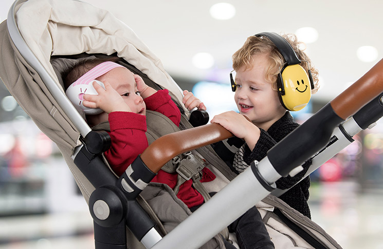 Protect your child's ears from loud noises