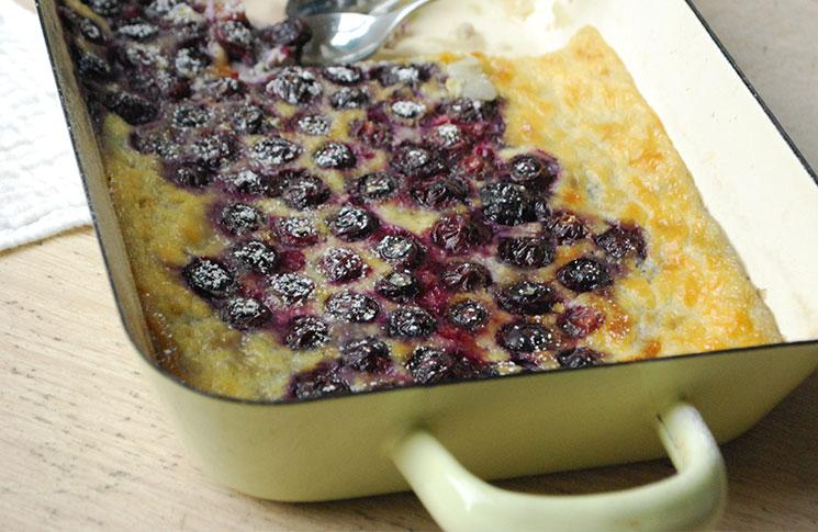 Blueberry-Clafoutis
