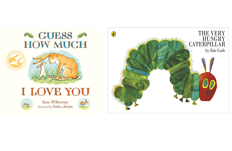 Oldies but goodies: Guess How Much I Love You and The Very Hungry Caterpillar, which took first place