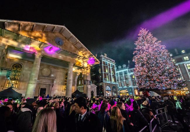 Covent Garden Christmas lights November 2018