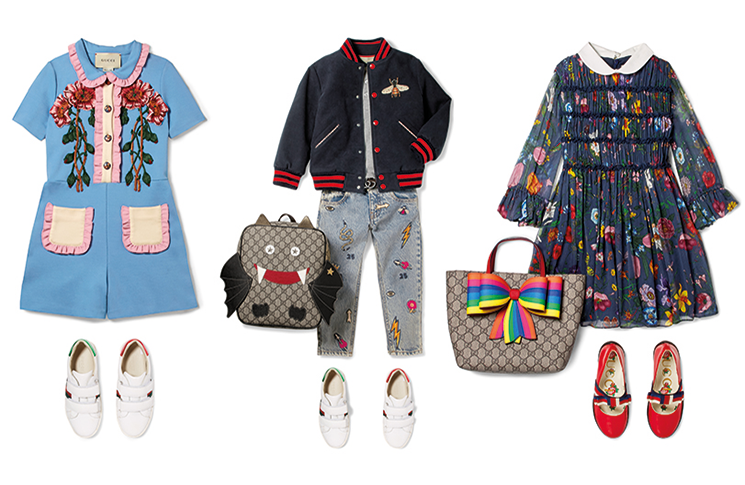 3c010139ee6 Now you can shop the kids' line alongside the womenswear designs on the  Net-A-Porter website with the new Gucci 'shop-in shop'