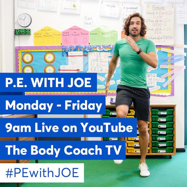 Joe Wicks PE videos