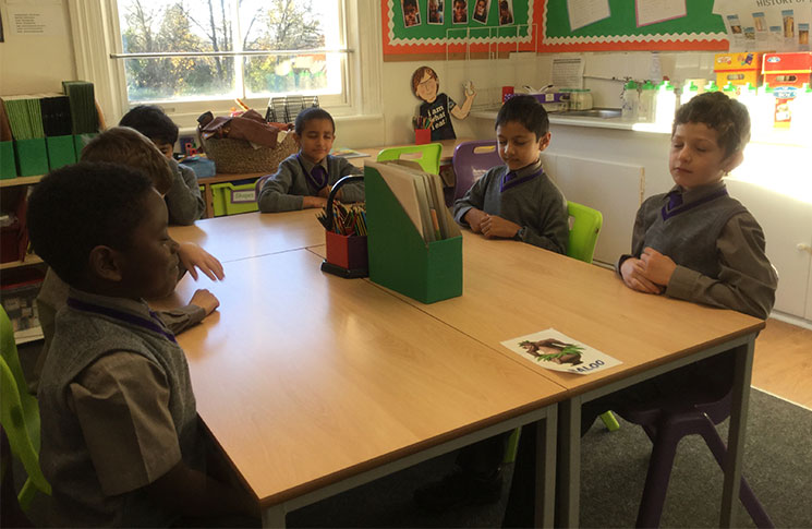 Pupils at Bickley Park School practice mindfulness