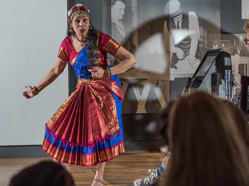 Museum of London Docklands woman performing event Discover London's historic East this half term with a trip to the Museum of London Docklands