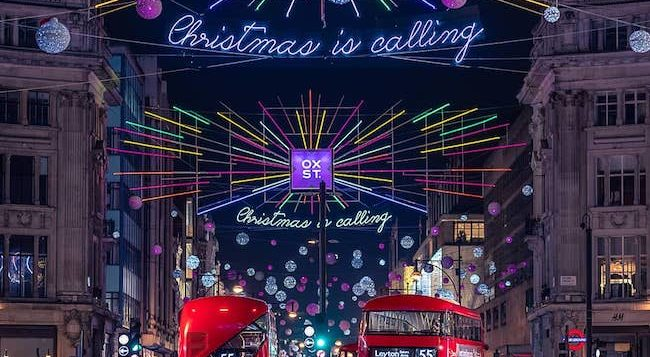Oxford Street Christmas lights 2018