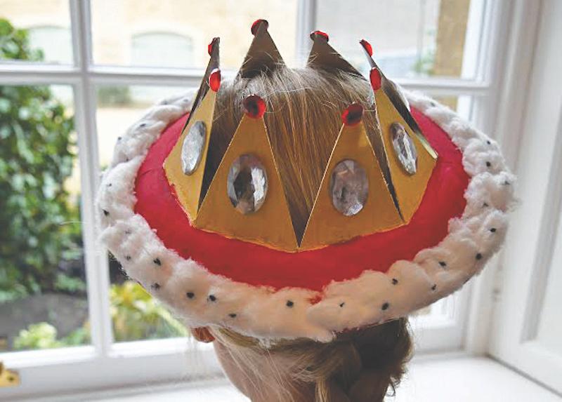 Paper plate crown