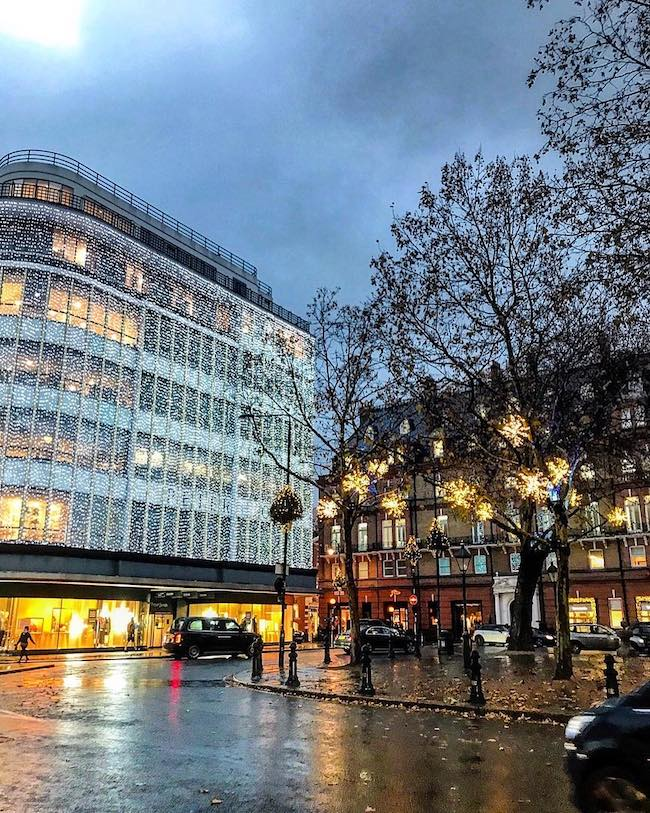 Sloane Square Christmas lights 2018