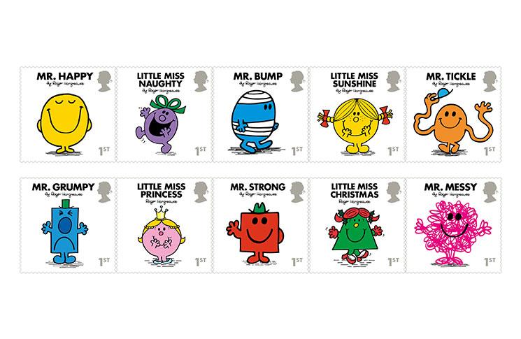 New Mr Men Stamp Set