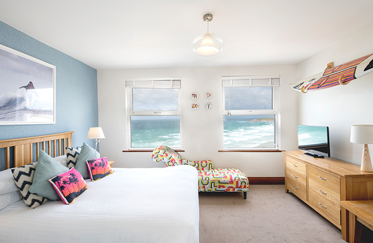 The Esplanade Hotel Cornwall room