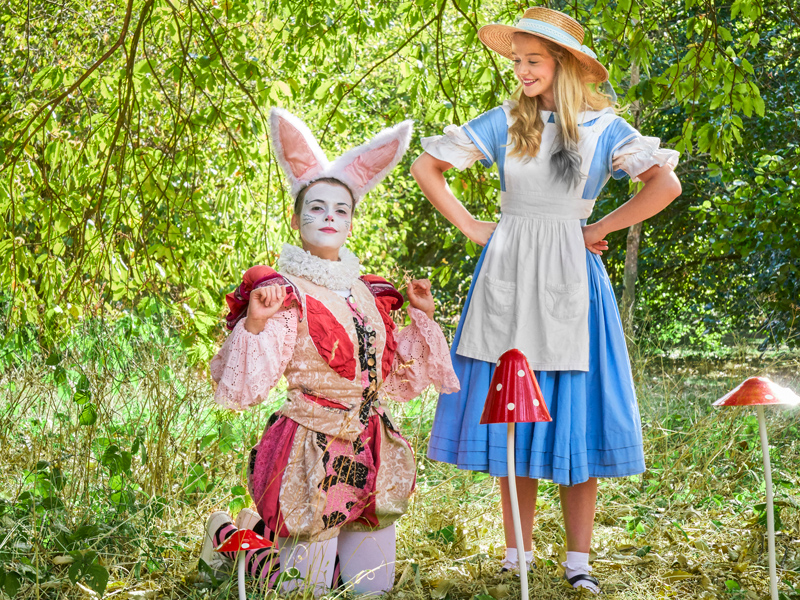The White Rabbit and Alice Win a family ticket to 'Alice in Wonderland' at Theatre on Kew