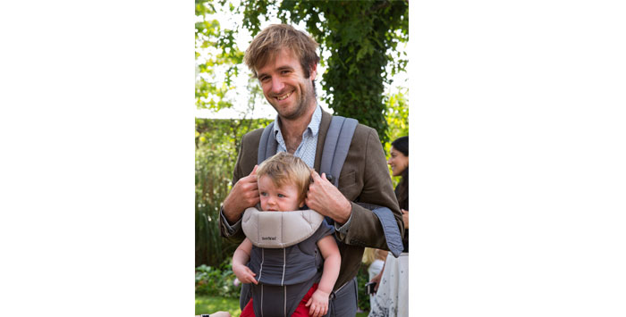 The Times's Tom Whipple and baby Felix. Photo Credit: Kate Shortt.