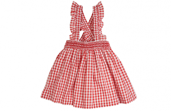 Pepa & Company red gingham skirt