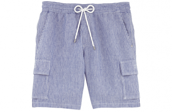 Vilbrequin blue striped linen shorts