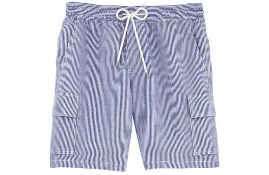 Vilbrequin blue striped linen shorts