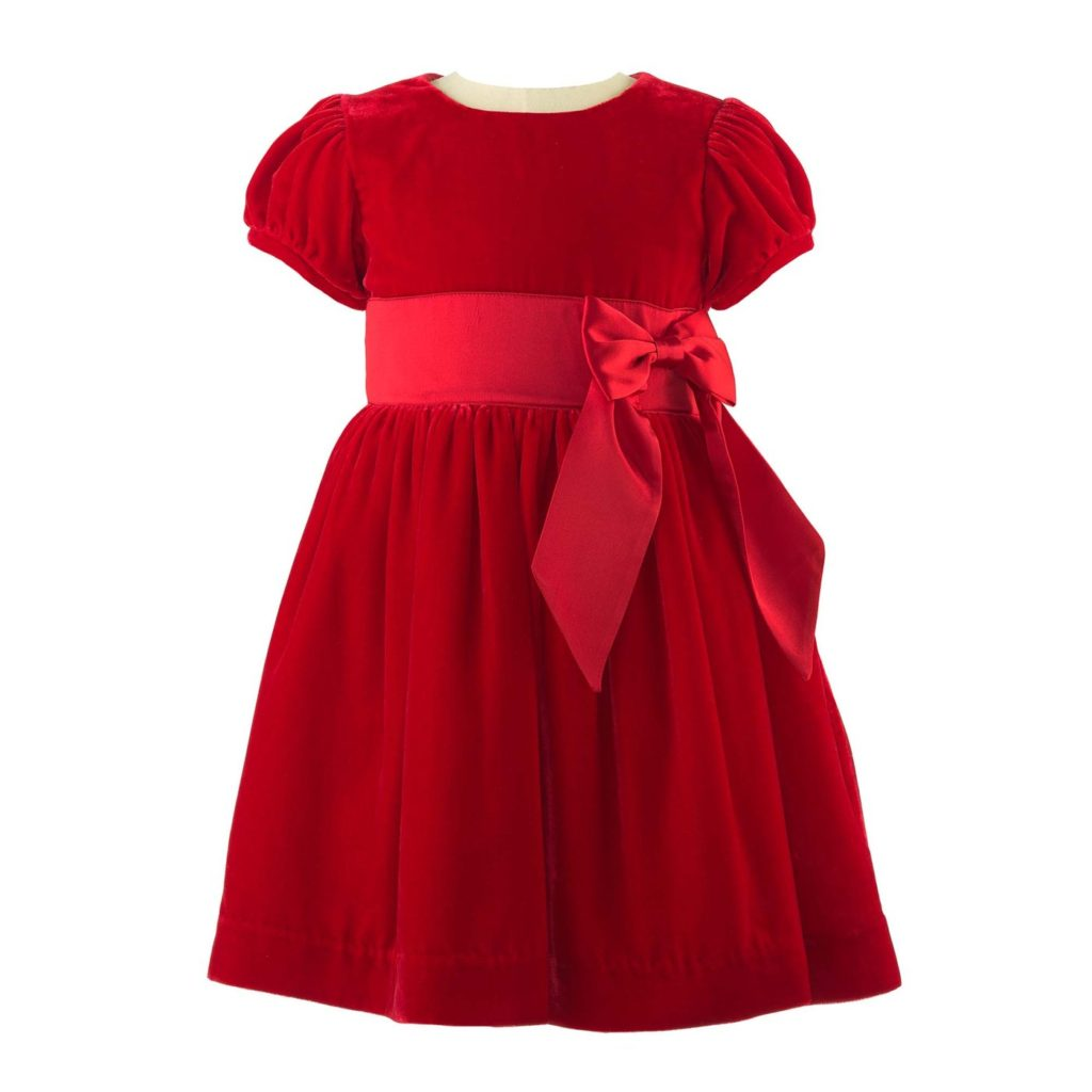 kids-party-season-clothes-red-velvet-dress