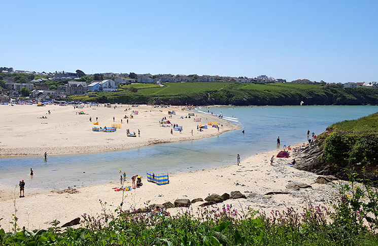 Porth Beach is just a short walk from the hotel