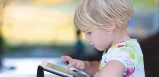 Child using technology
